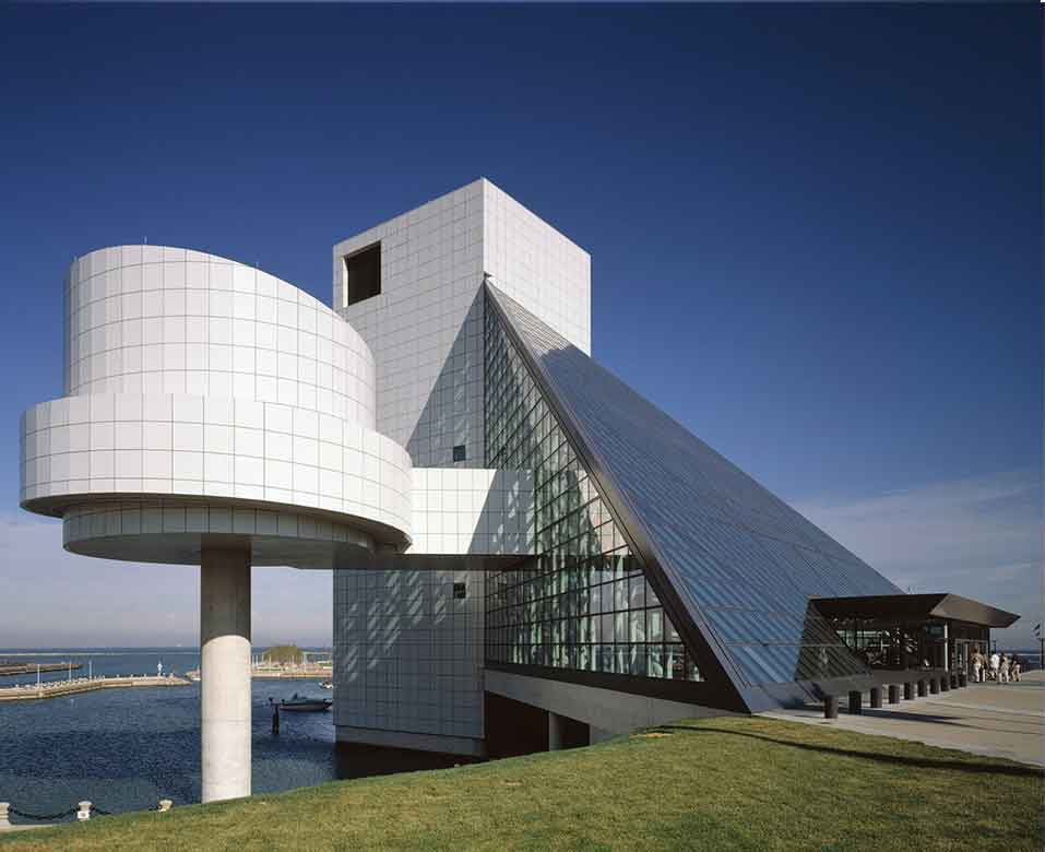 Rock and Roll Hall of Fame Designed by architect I M PEI Cleveland Ohio