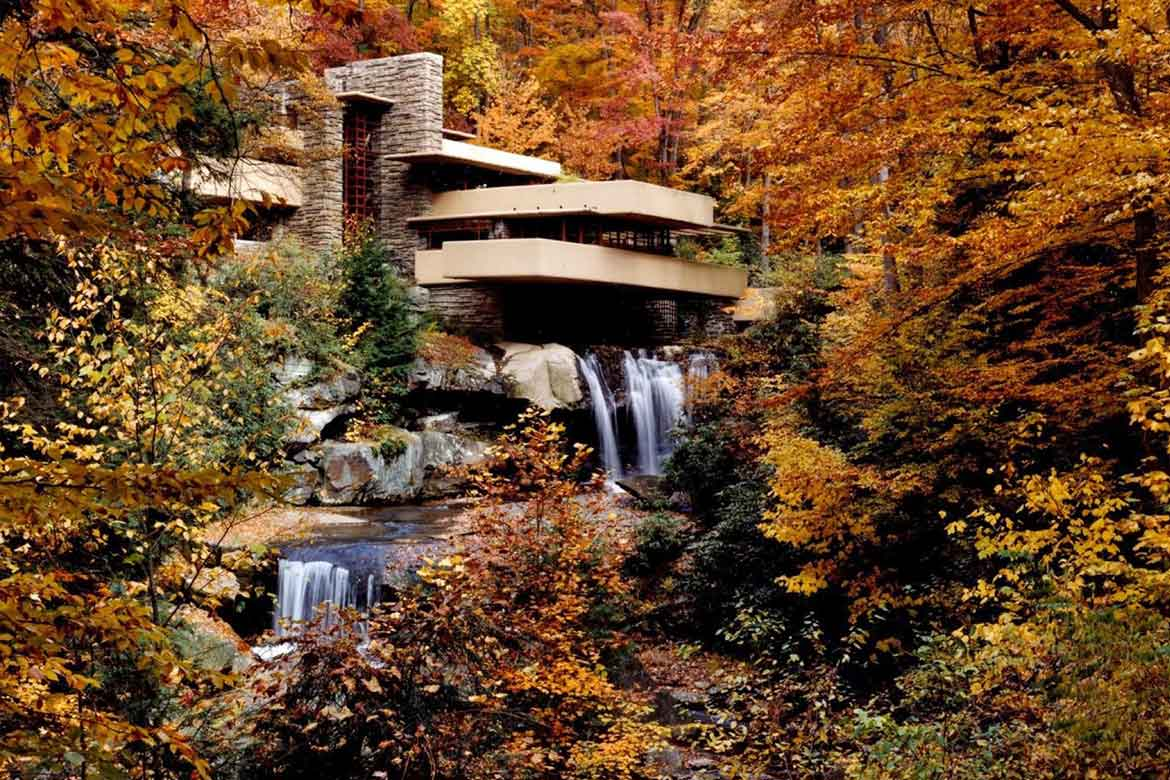Frank Lloyd wright Timeless Falling water House by Tyler Stout