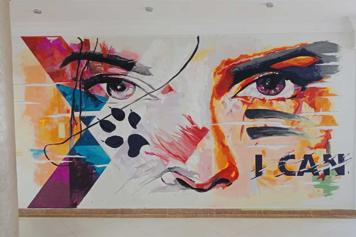 Street Art in Egypt A mural for Chefox The Ultimate Weight Loss Experience from @JidarWalArt