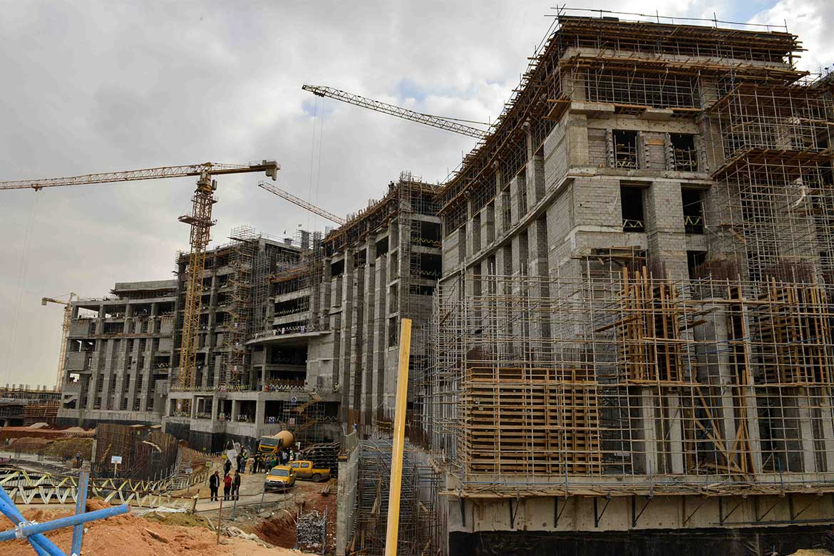 Construction process of the new Parliament Building in the new capital city- Photo courtesy: youm7.com