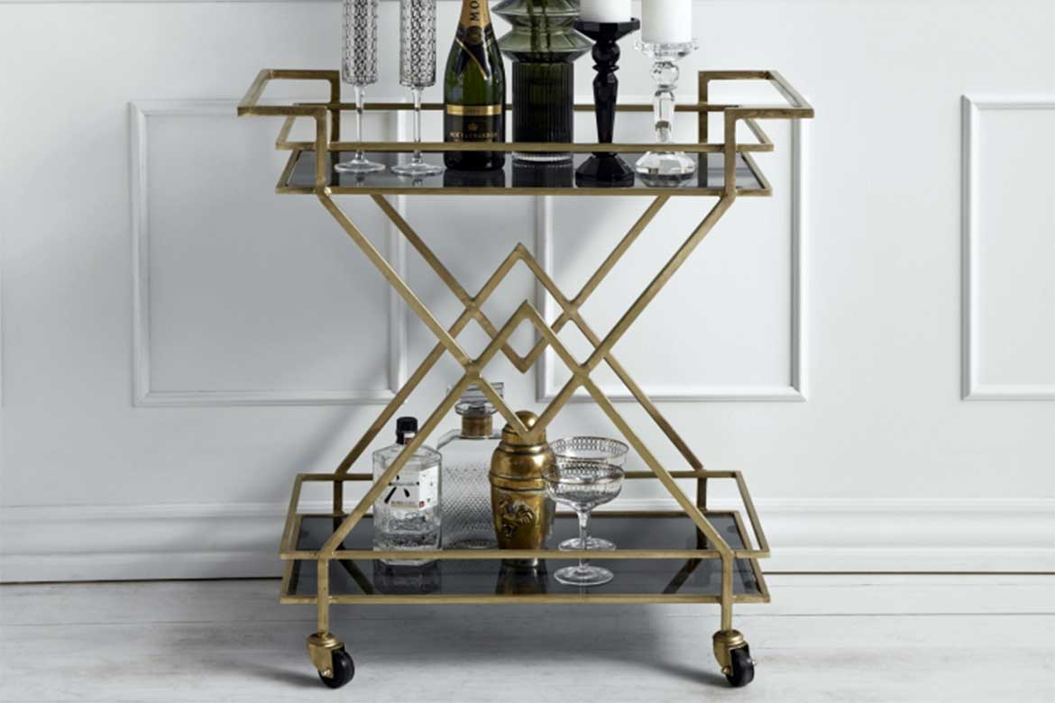 Nordal Art Deco Drinks Trolley. Photo courtesy : accessoriesforthehome.co.u