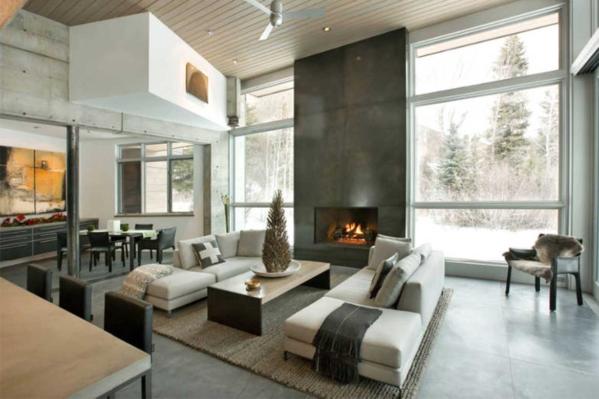 Open interior space from KF Home Building