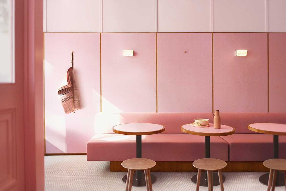 Humble Pizza café designed by Child Studio in London_Linesmag