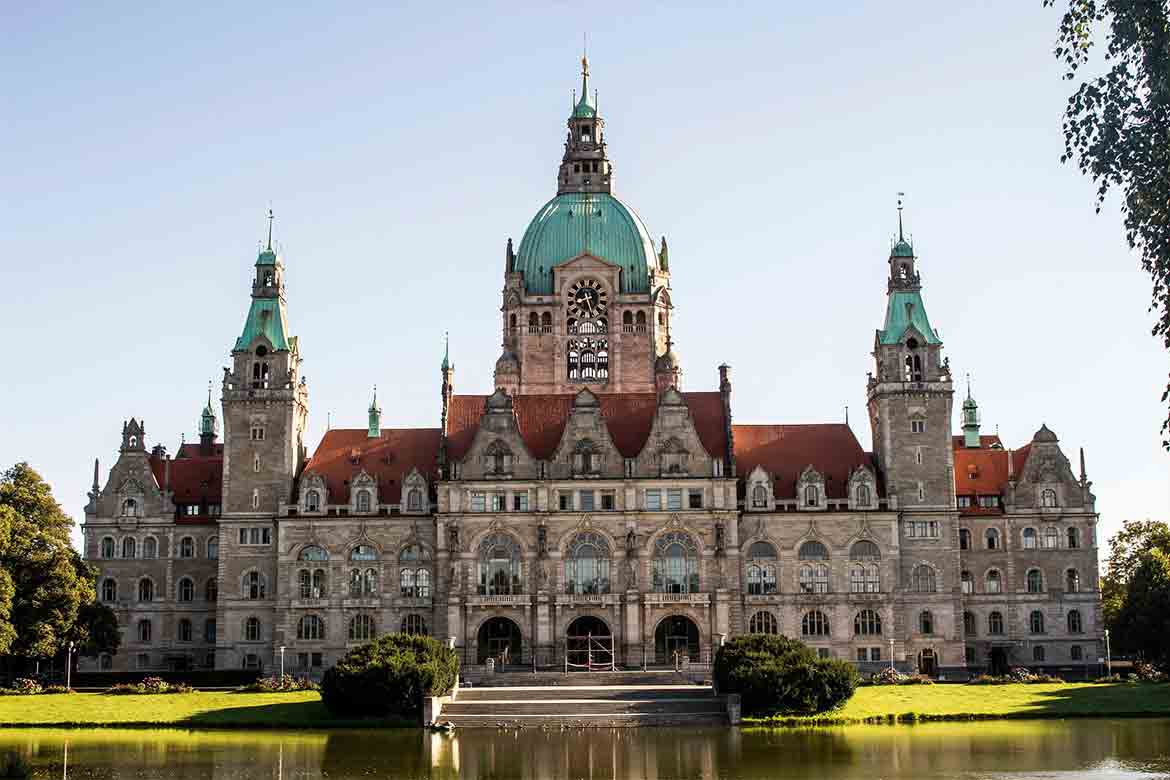 The New Town Hall in Hannover, Germany