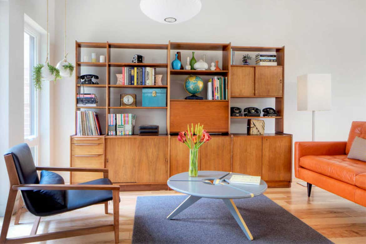 Exposed wooden material in mid-century interiors- Photo from: freshome.com