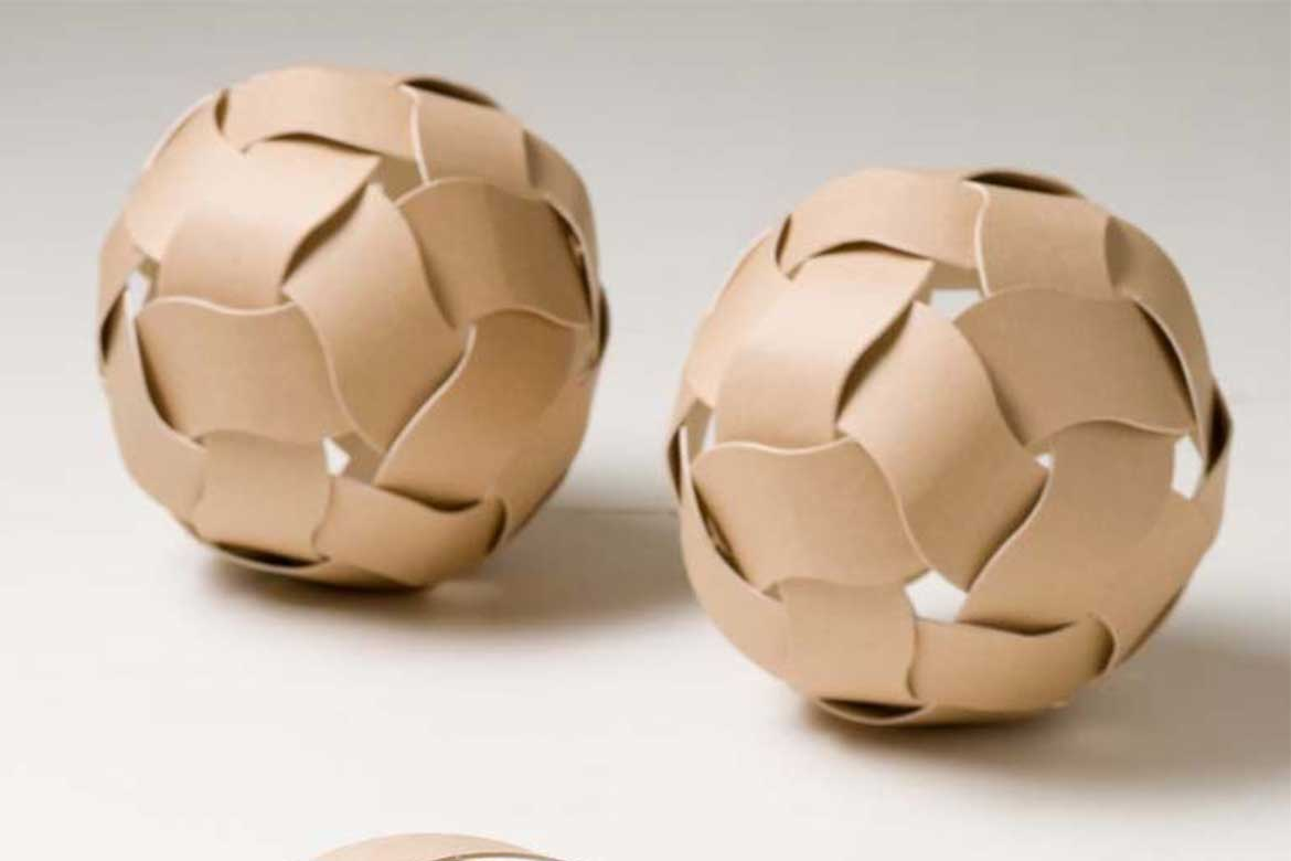 """sustainable design products_A design for the environment Cardboard balls """"Dream balls"""" by Unplug Design"""