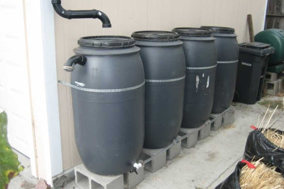 Gallons of rainwater storage - Photo courtesy: greywateraction.org