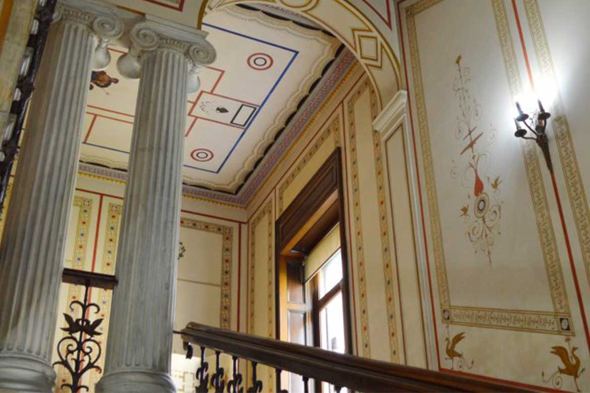 Wall decorations inside Numismatic Museum of Athens - Photo courtesy: Museeum