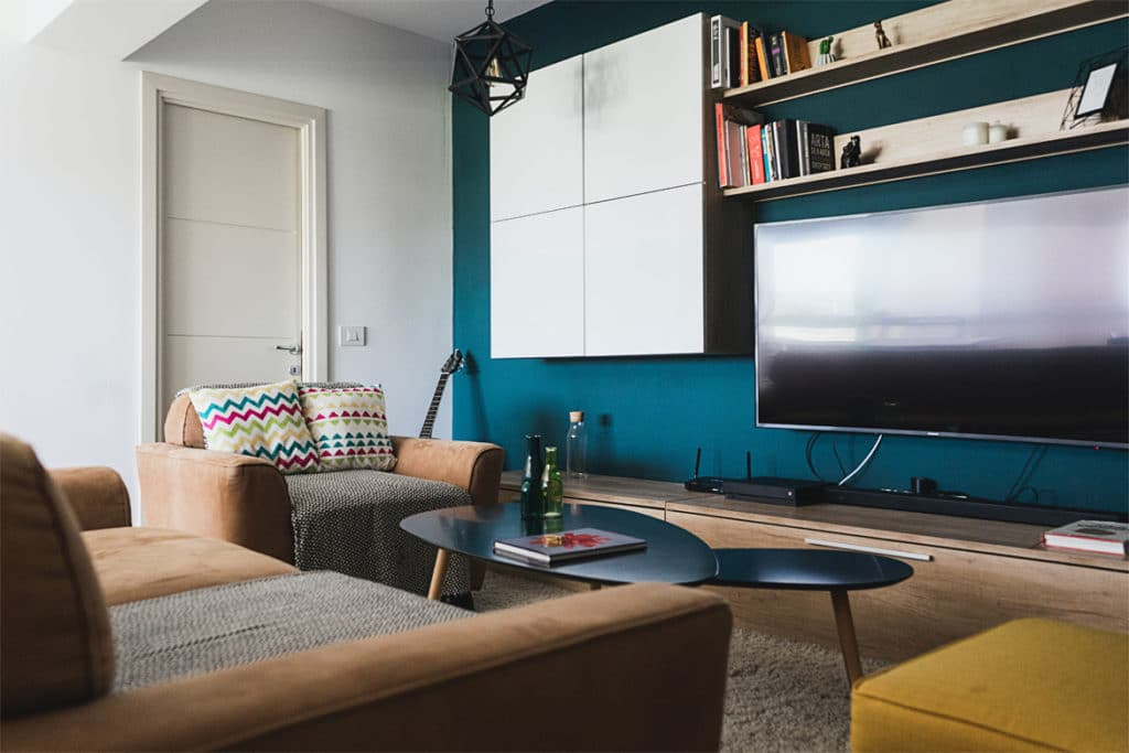 Living room paint and design Linesmag