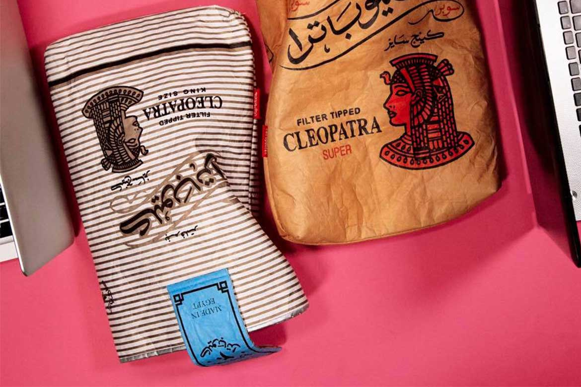 Laptop sleeves inspired from Egyptian Cleopatra cigarettes brand - Photo courtesy: Cairopolitan