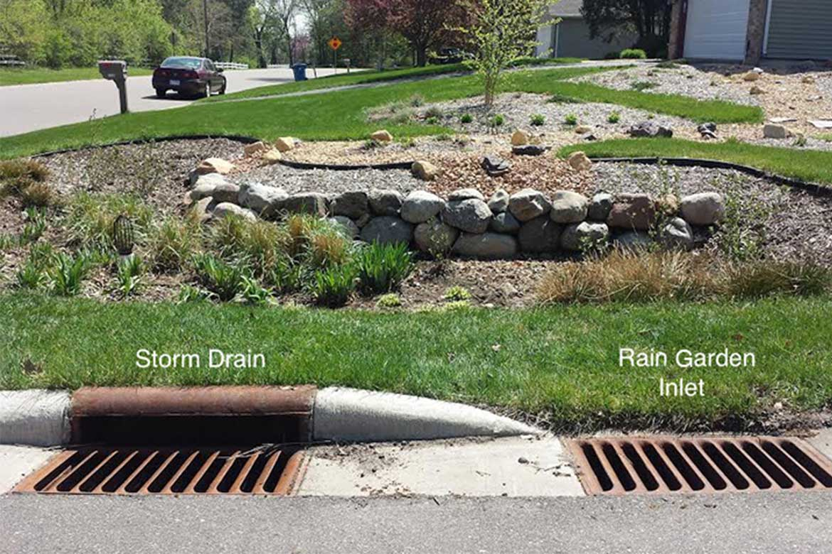 Rain inlets and pipes. Photo courtesy: conservationcorps.org