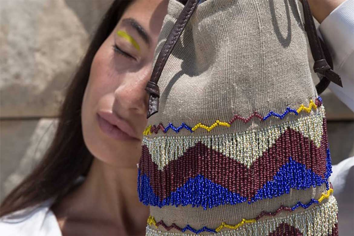 Bags inpsired from traditional Egyptian crafts- Photo courtesy: Markaz
