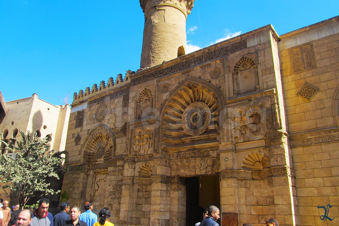 Coptic Museum elevation facade resemblance with al-aqmar mosque