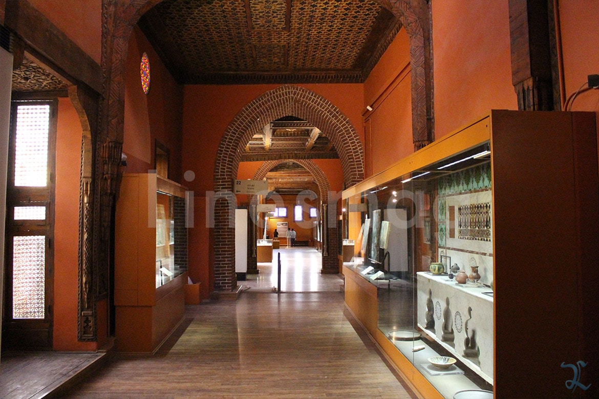 coptic museum interior arches wall bearing structure