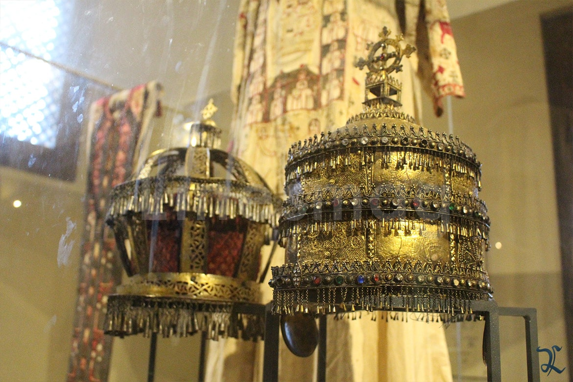 Coptic Museum Crown pope gold
