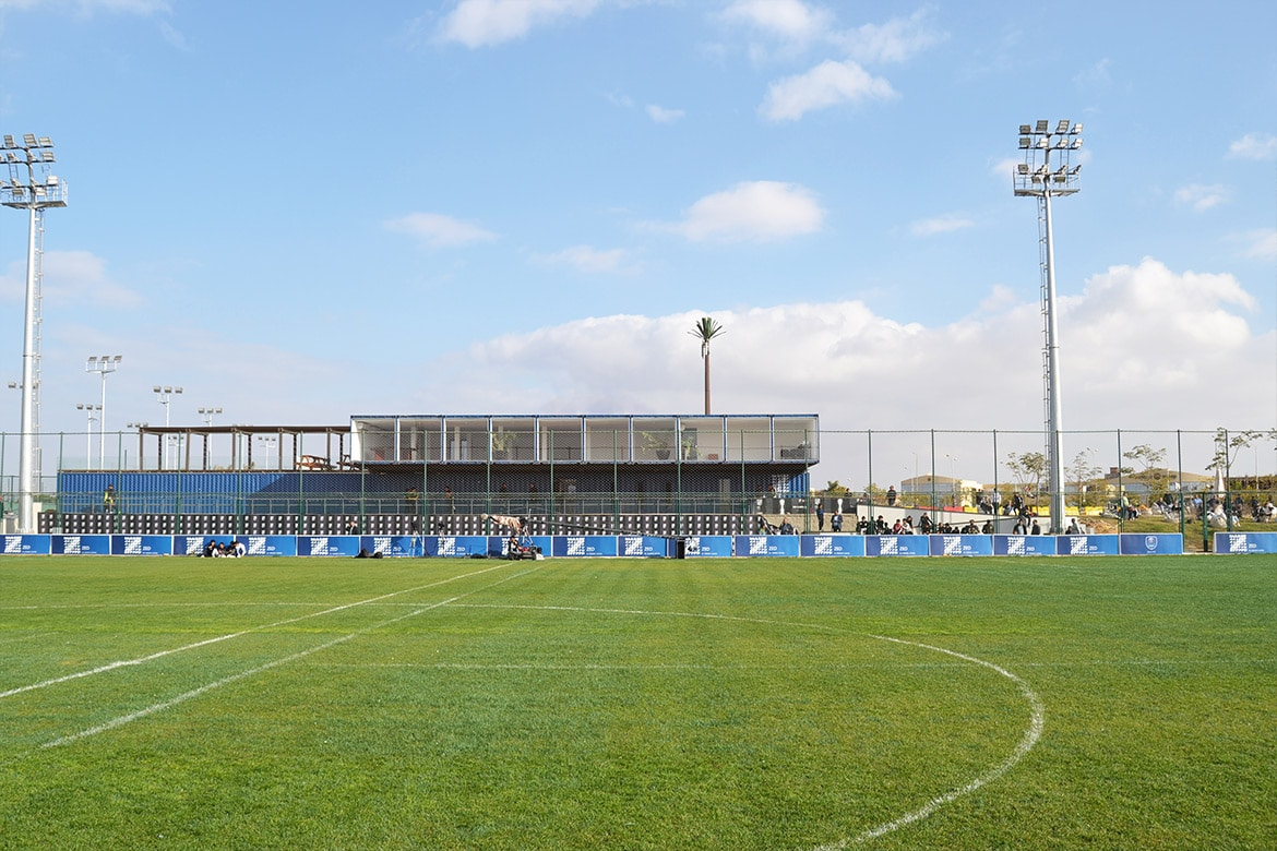 Shipping Container Architecture Sports field football club cairo egypt
