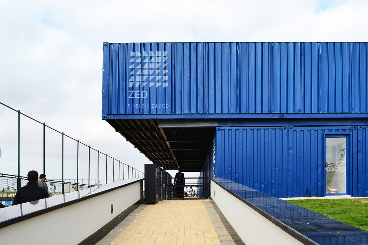 Zed Park Sports Facility Shipping container Architecture Sustainable structure