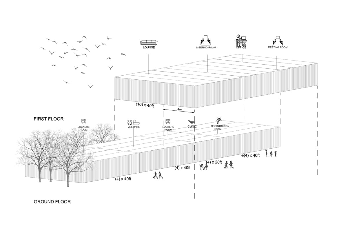 Shipping Container Architecture 3d Diagrams Zed Park El sheikh zayed contemporary architecture in cairo sustainability