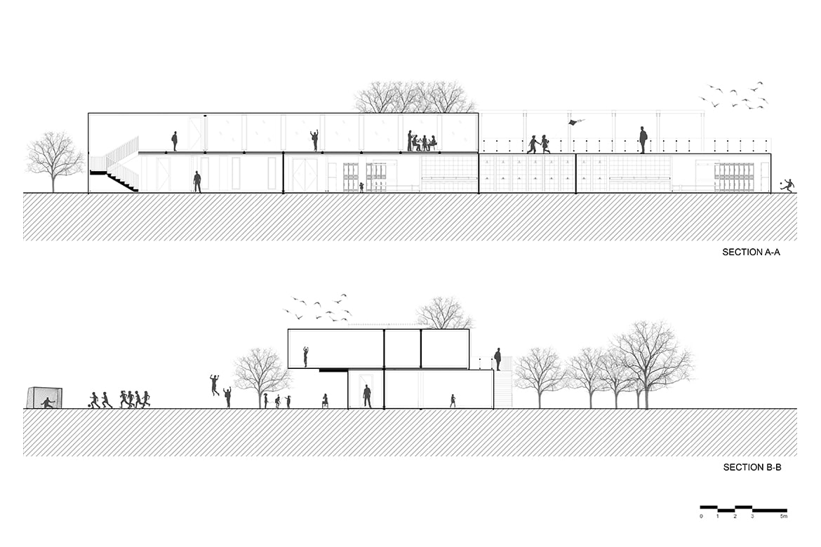 shipping container architecture cross section zed park