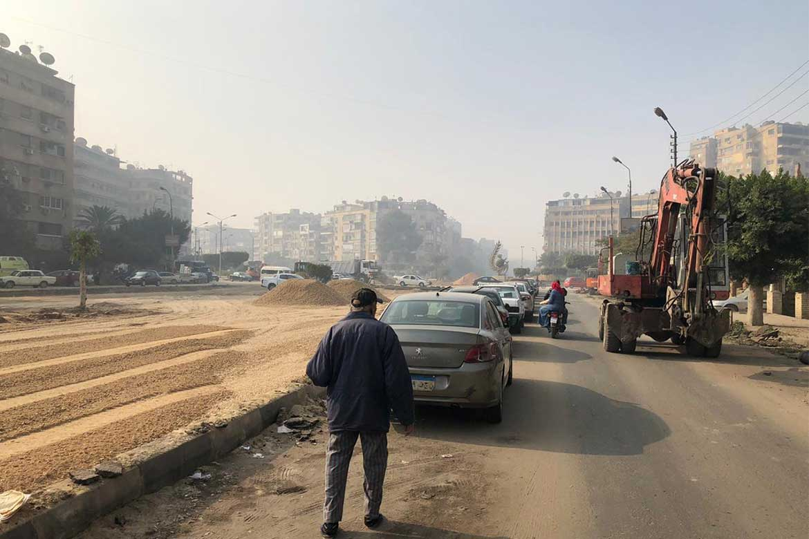 consequences of developing Heliopolis After removal of green areas after development in Heliopolis- Photo courtesy: @HeliopolisHeritage Initiative