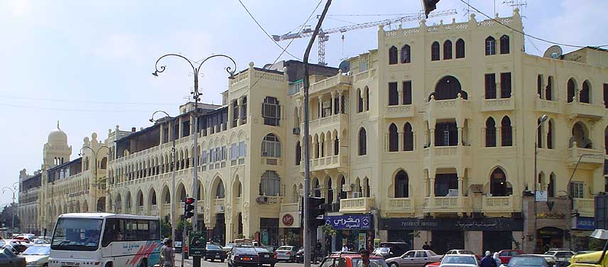 Examples of typical pre-WW1 buildings inspired by Moghul (Rajastan, India) architecture - Photo courtesy: Egy.com