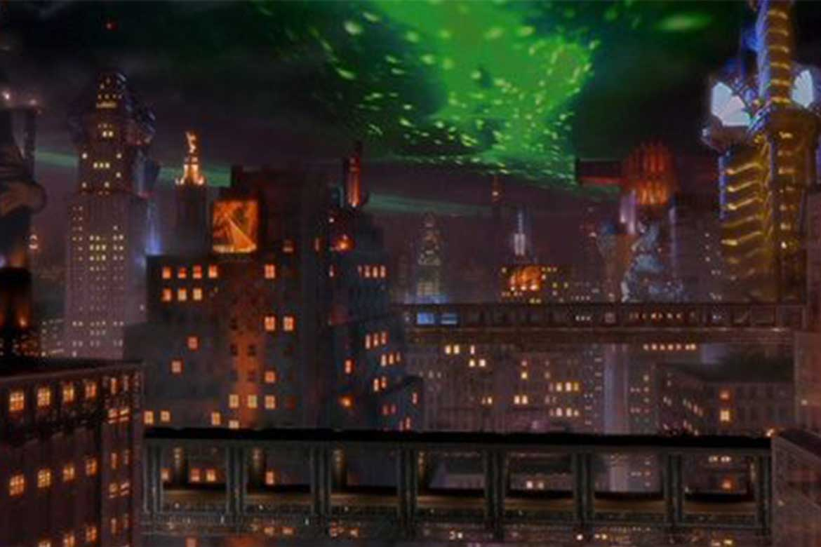 A more colourful Gotham city in Batman Forever (1995)