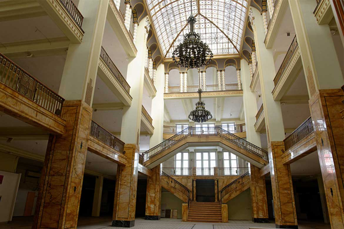 The Görlitz Warenhaus was empty for four years before it became a set for The Grand Budapest Hotel - Photo courtesy: Wolfgang Pichler