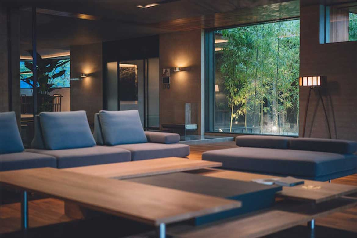 The use of dark wood and grey-toned materials- Photo courtesy: CJ ENM CORPORATION,