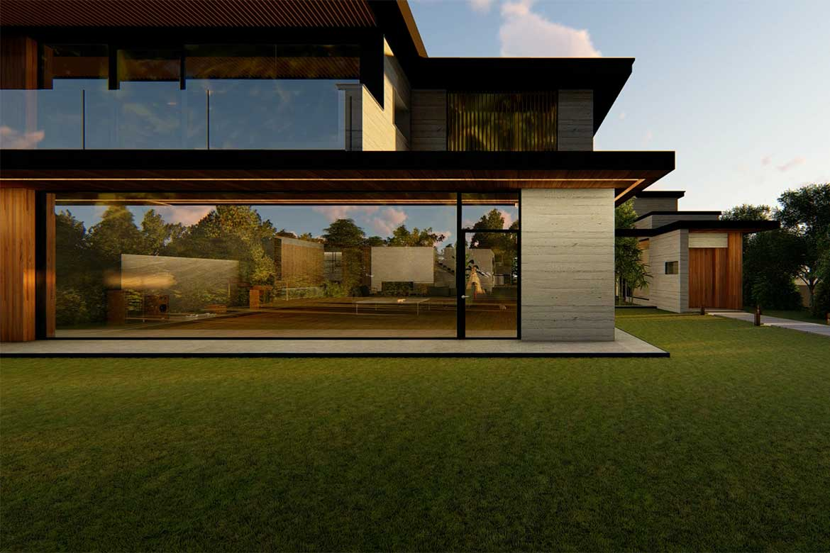 A rendering of the set design Park family home in Parasite - Photo from: CJ ENM CORPORATION, BARUNSON E&A