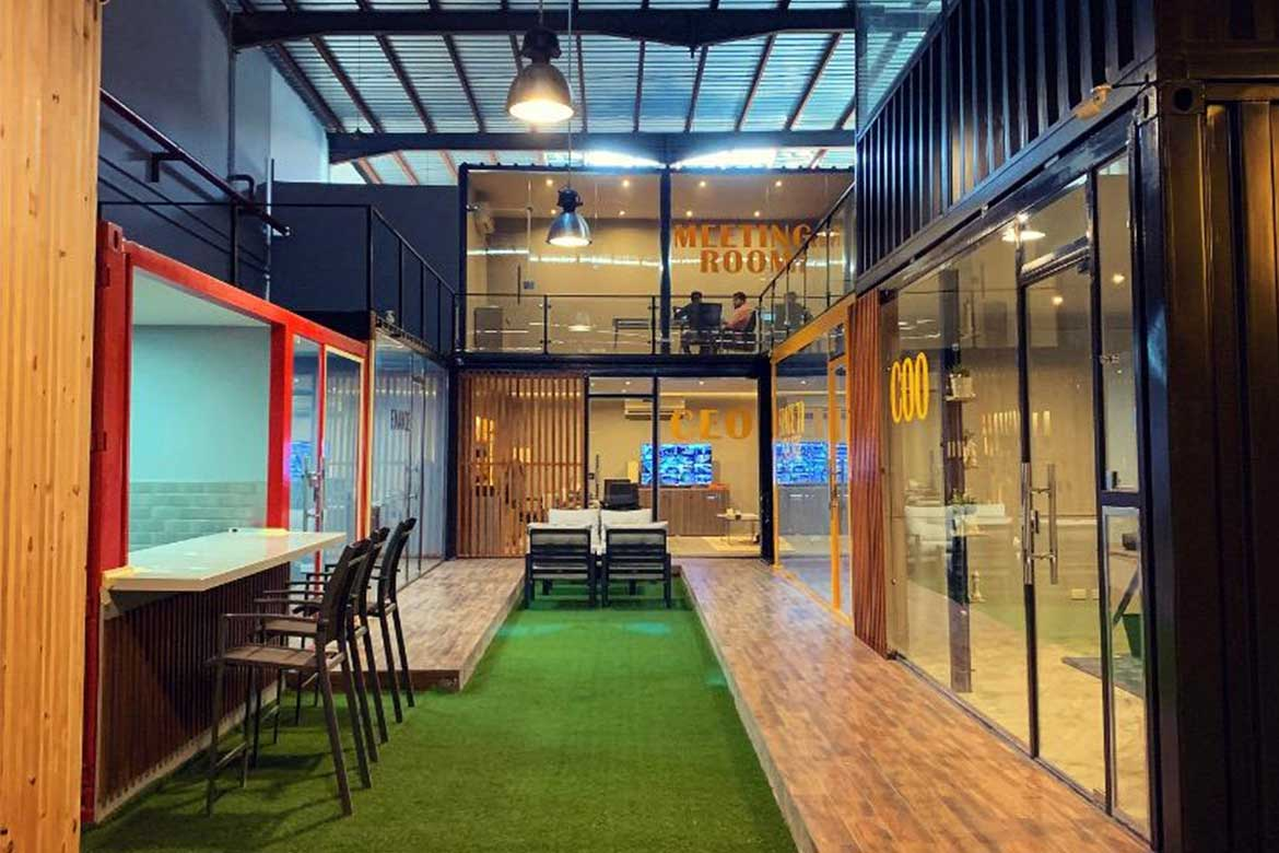 Qubix new Head Quarter office container architecture firm in Egypt