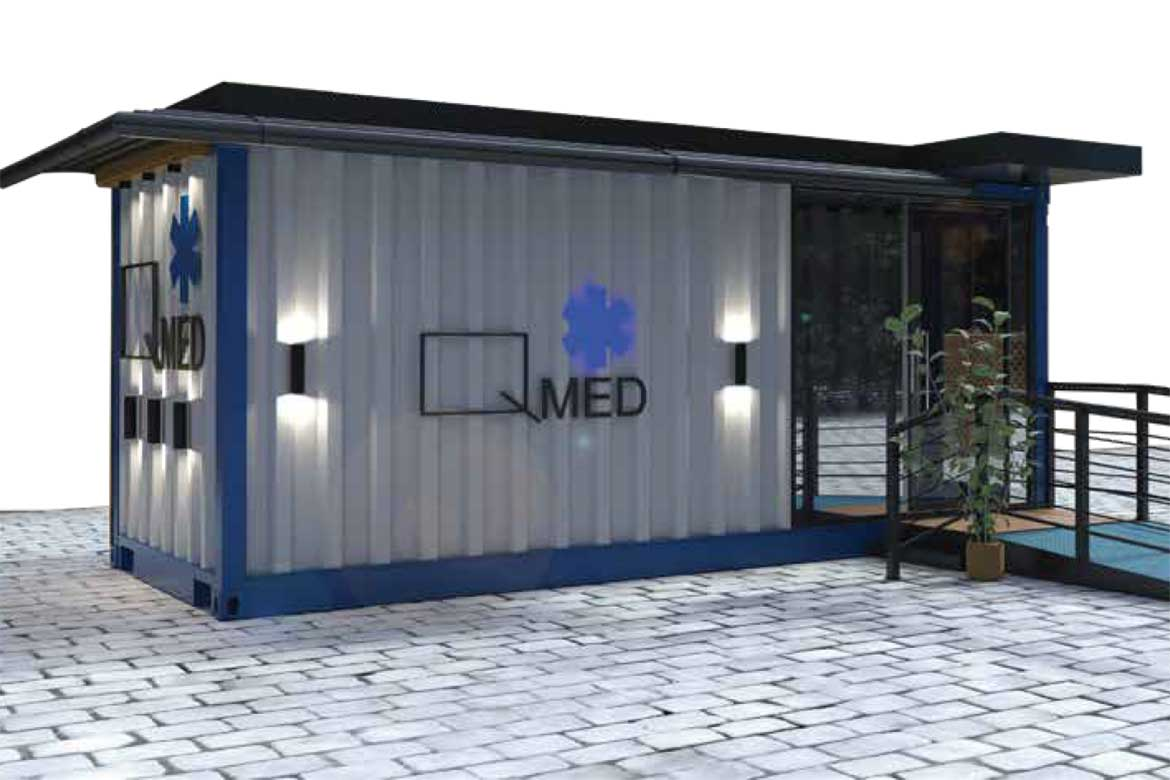 Q-Med medical unit from Qubix container architecture firm in Egypt