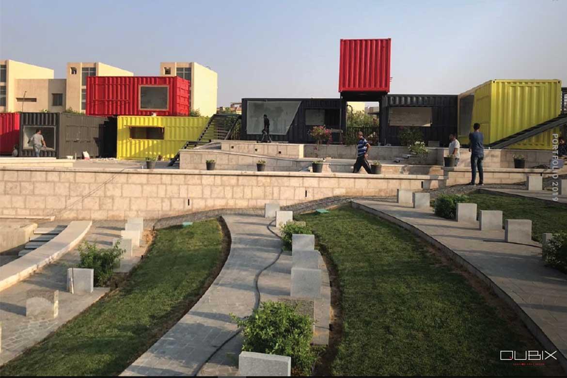 The Walk of Cairo designed by Qubix container architecture firm in Egypt