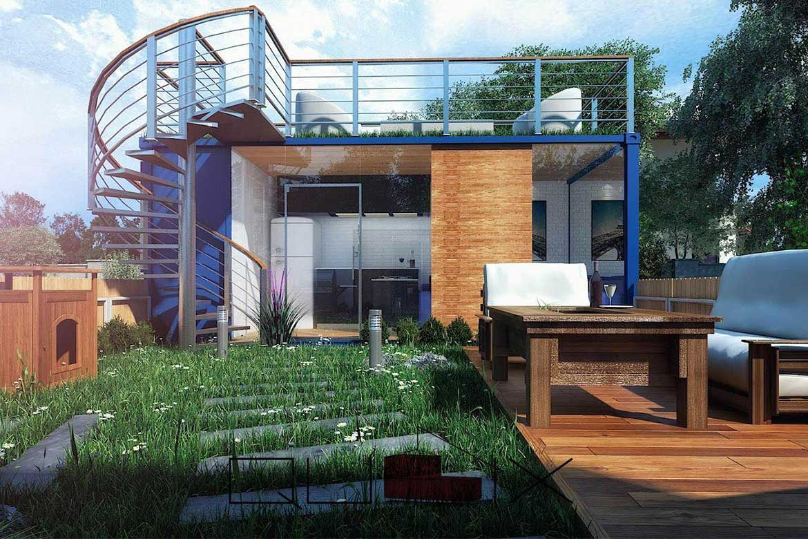 Designs from Qubix container architecture firm in Egypt