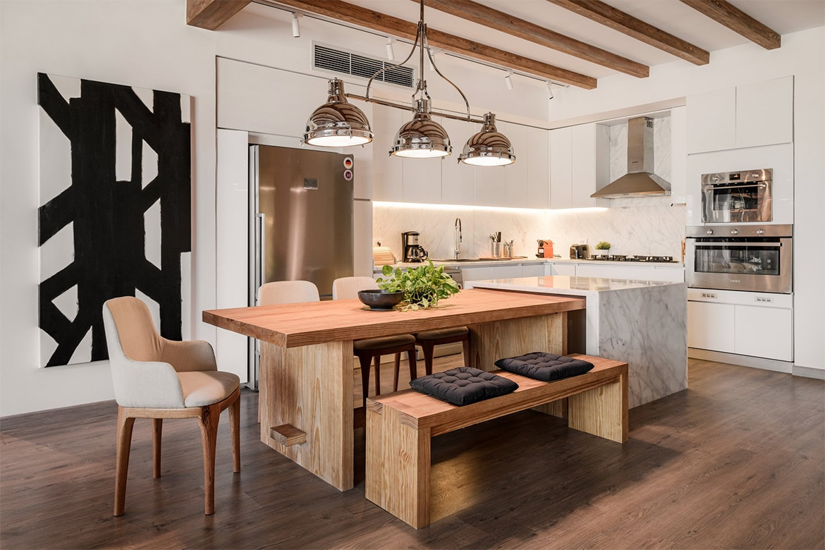 Kitchen and Dining space design - Photo courtesy: Badie