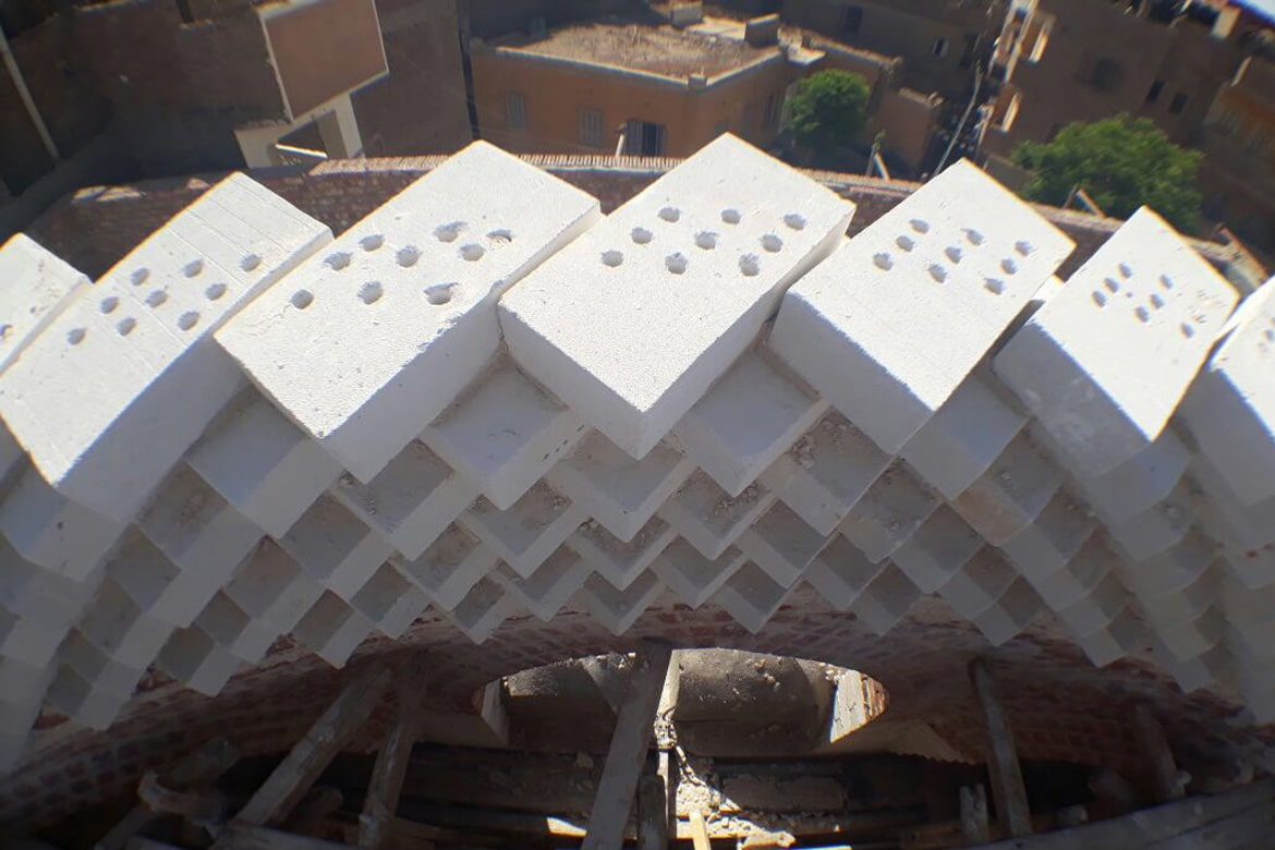 dome construction using sand block
